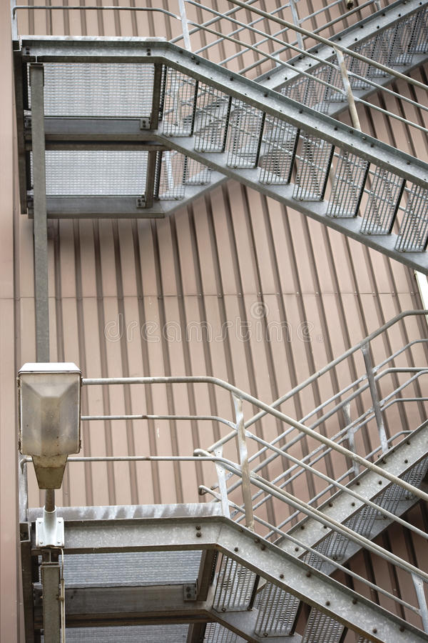 Download External Staircase Industrial Building Stock Image   Image Of  Handrails, Element: 58888475