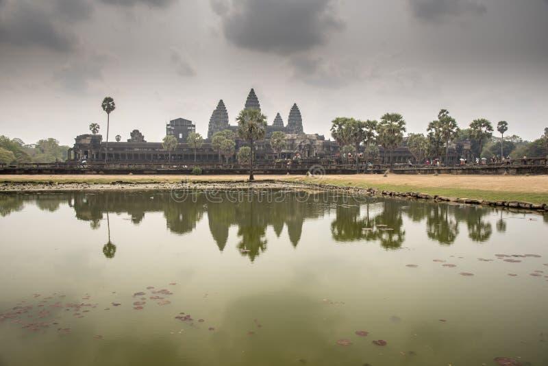 External view of Angkor Wat royalty free stock images