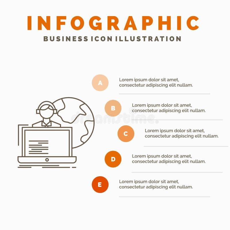 externalisez, externalisation, attribution, calibre humain et en ligne d'Infographics pour le site Web et pr?sentation r illustration de vecteur