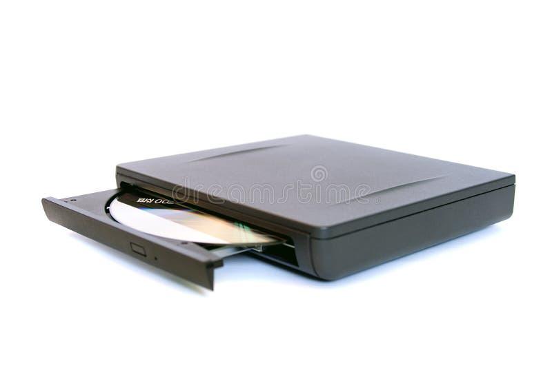 Externe aandrijving CD/DVD stock foto