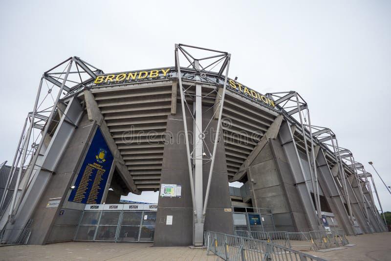 Externe Ansicht von Brondby-Arena lizenzfreies stockfoto