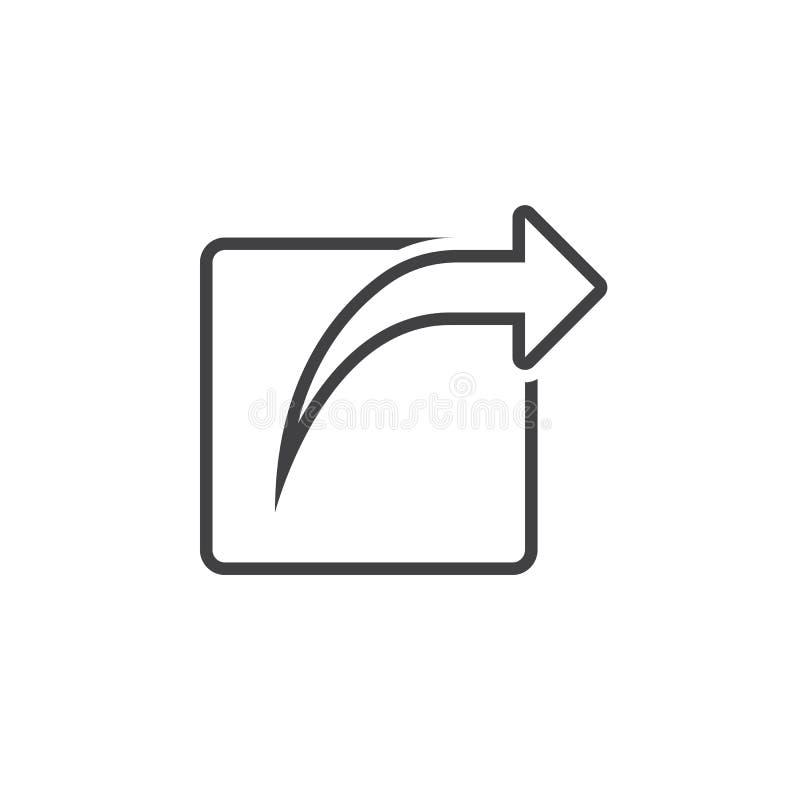 Download Externe Anteillinie Ikone, Entwurfslogoillustration, Linie Stock Abbildung - Illustration von weiß, anteil: 90234945