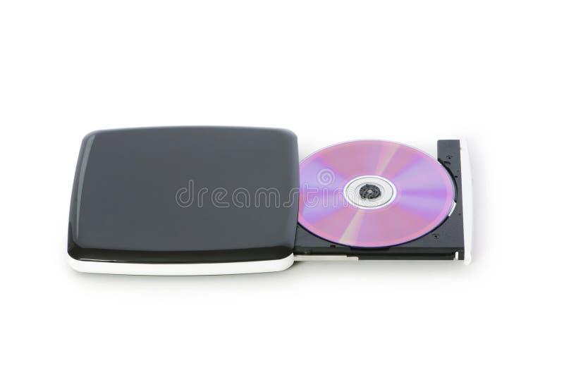 Externes dvd Laufwerk getrennt lizenzfreie stockfotografie