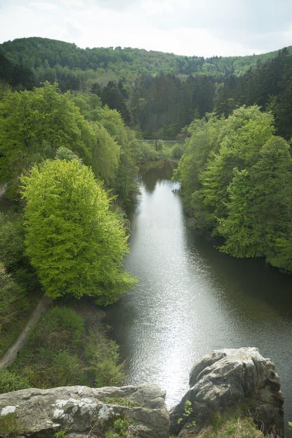 Externsteine Herford, Germania fotografia stock libera da diritti