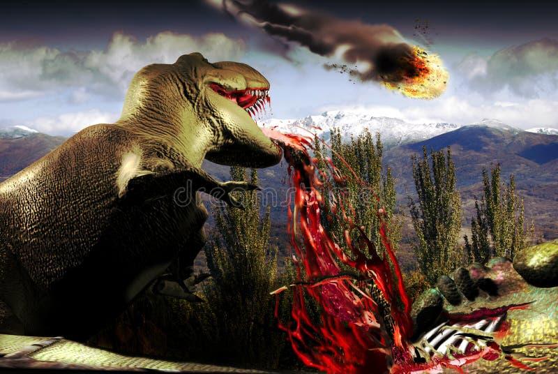 Extinção do dinossauro ilustração do vetor