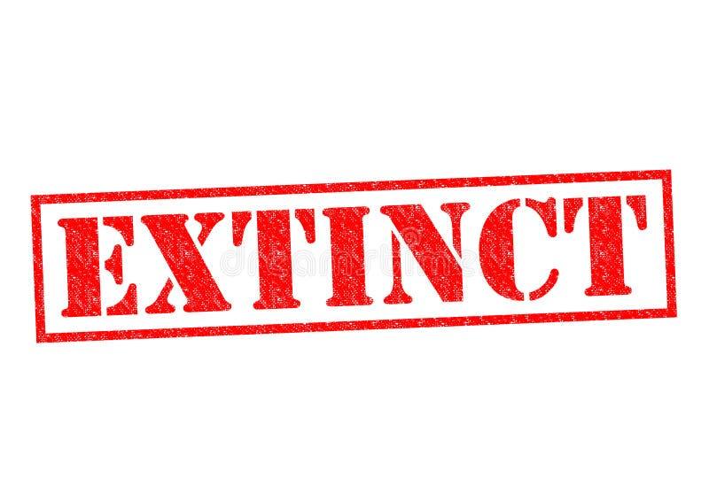 extinct ilustração do vetor