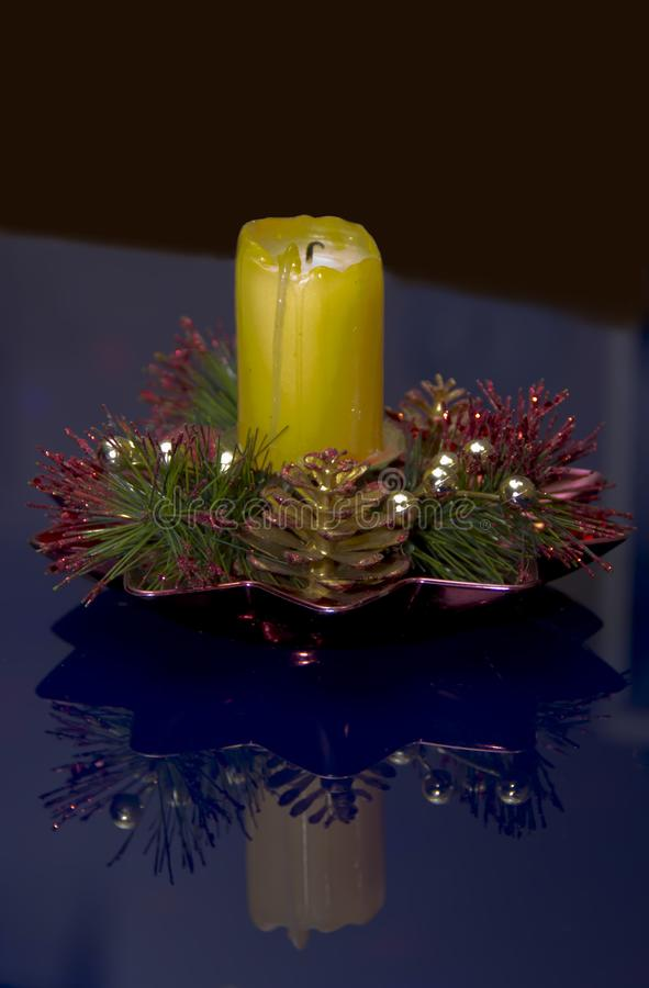 An extinct candle. On the table royalty free stock photos