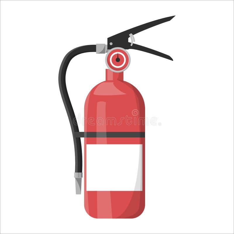 Extincteur rouge Équipement d'urgence pour l'usage en danger illustration stock