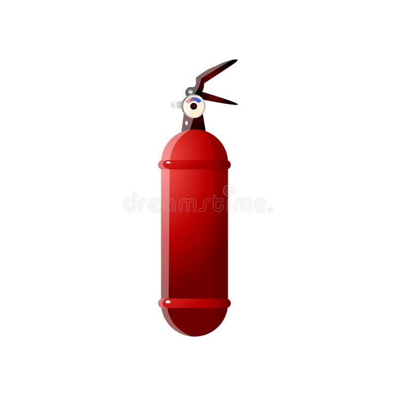 Extincteurs rouges peu communs Extincteur pour la sécurité incendie illustration stock