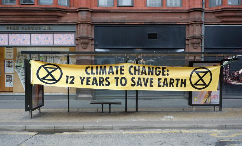 Climate Change Warning by Extinction Rebellion royalty free stock images