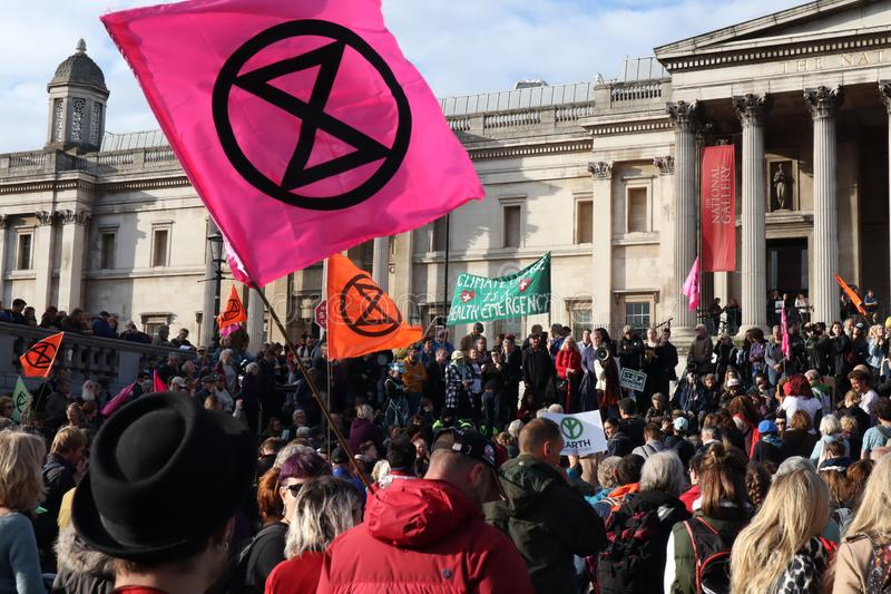 Extinction Rebellion in front of National Galleries royalty free stock photo