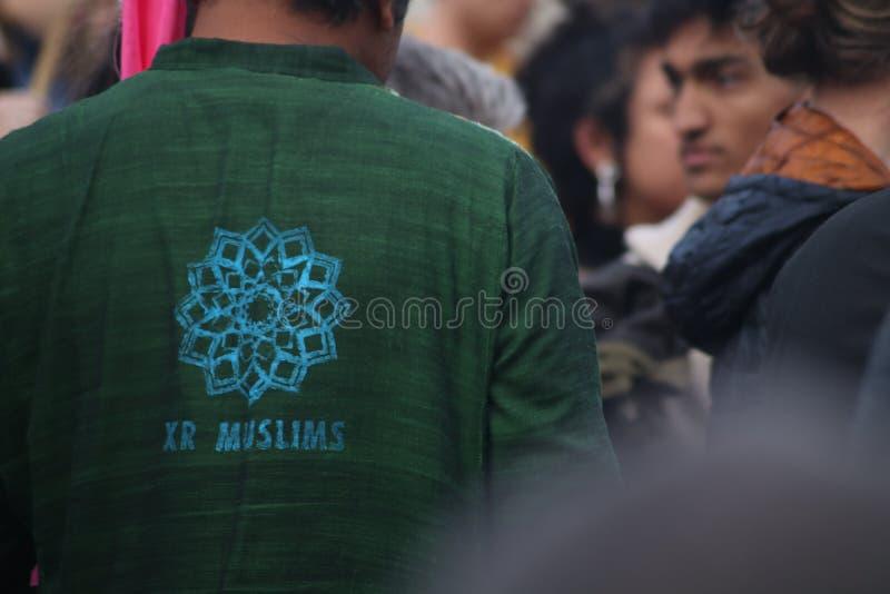 Extinction Rebellion Muslims royalty free stock photography