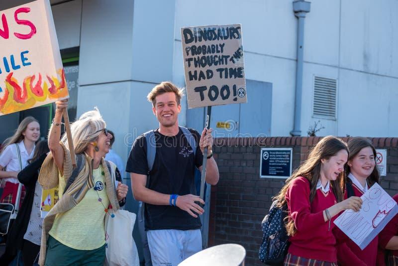 Tonbridge, Kent/England - September 20 2019: Extinction Rebellion Rally stock photos