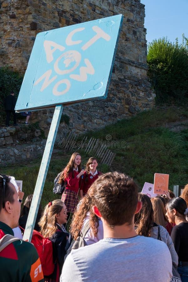 Tonbridge, Kent/England - September 20 2019: Extinction Rebellion Rally royalty free stock photography