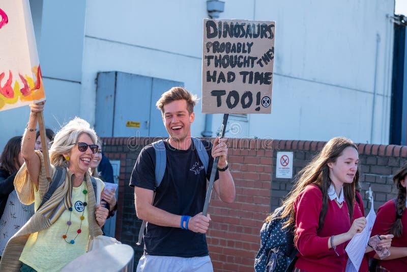 Tonbridge, Kent/England - September 20 2019: Extinction Rebellion Rally royalty free stock images