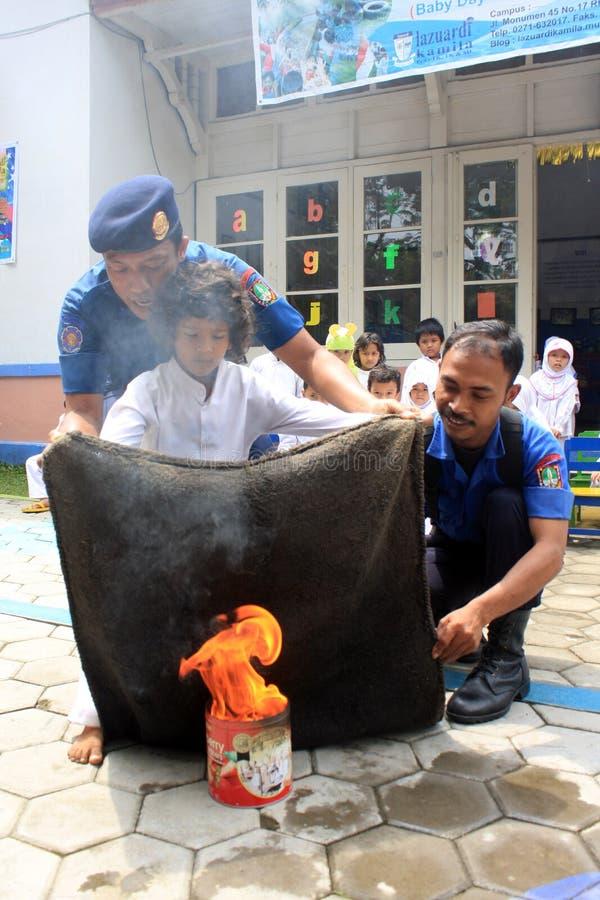 Extinguish Fire Editorial Stock Photo