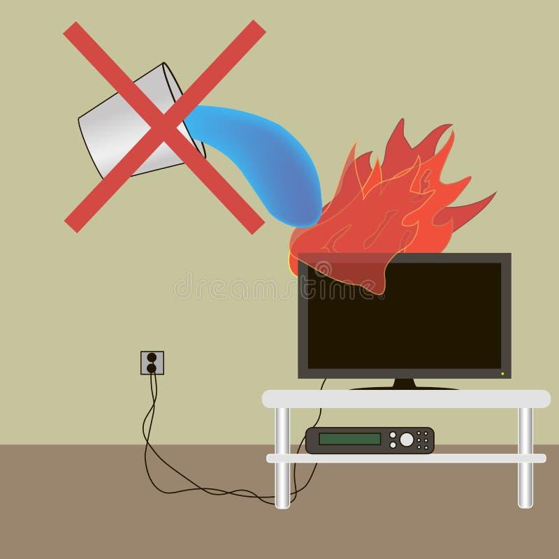 Extinguish the fire stock illustration
