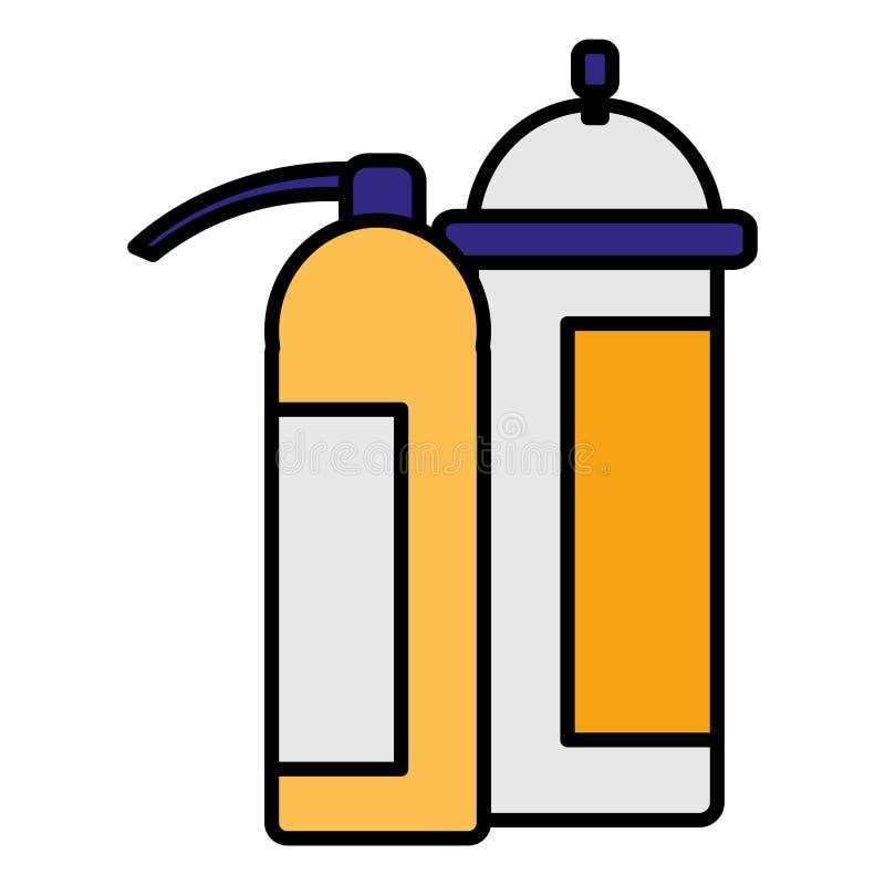 Extinguisher fire equipment icon. Vector illustration design royalty free illustration