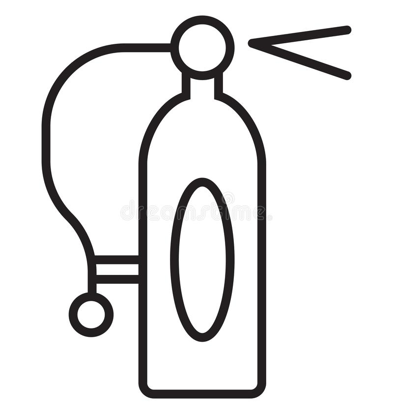 Extinguisher fire, extinguisher security Isolated Vector Icon can be easily modified or edit royalty free illustration