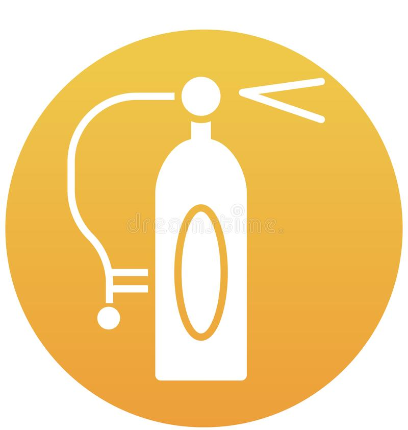 Extinguisher fire, extinguisher security Isolated Vector Icon can be easily modified or edit vector illustration