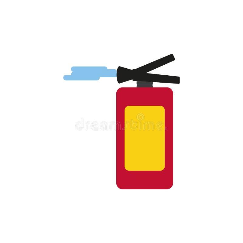 Extinguisher fire isolated icon. Vector illustration design stock illustration