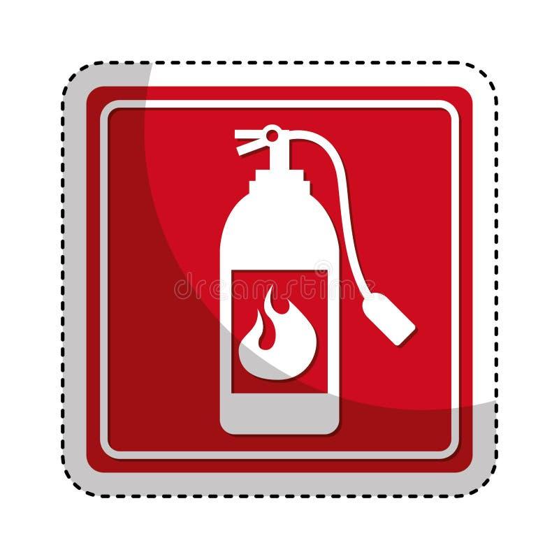 Extinguisher fire isolated icon. Illustration design vector illustration