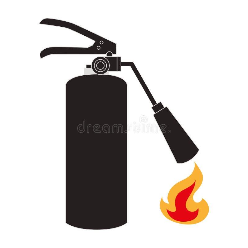 Extinguisher fire sign icon. Vector illustration design royalty free illustration