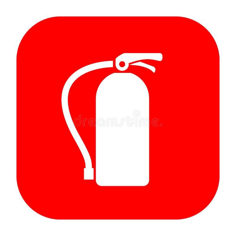 Extinguisher fire vector sign. Illustration royalty free illustration