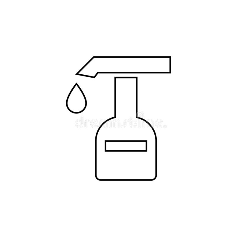 Extinguisher icon. Fire Emergency symbol. Extinguisher, flame, fire, vector, equipment, safety, symbol, emergency, danger, illustration, icon, protection, sign royalty free illustration