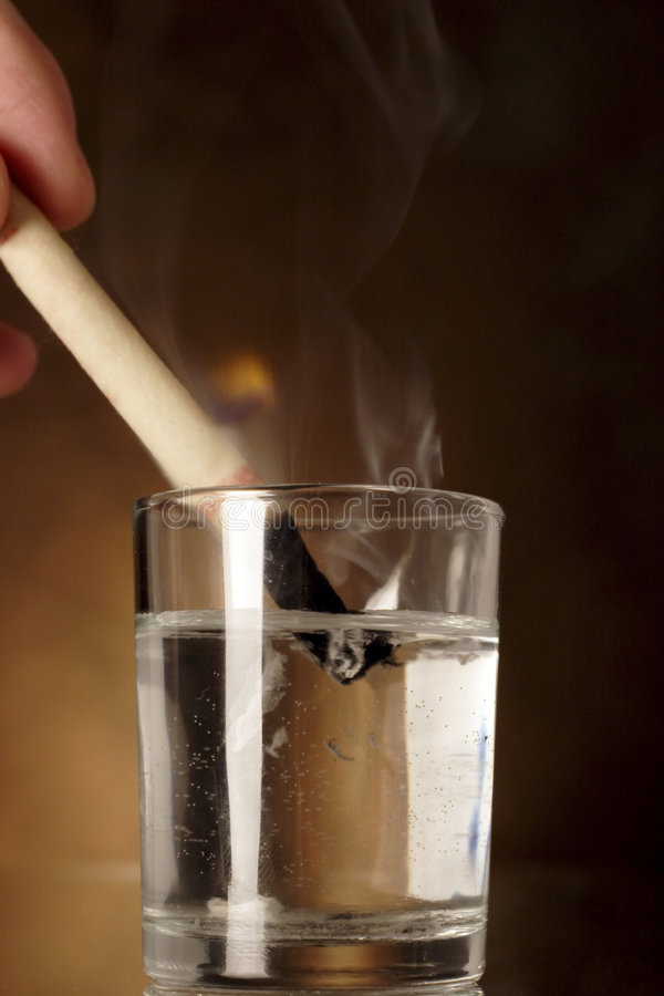 Download Extinguishing An Ear Candle Stock Image - Image: 712863