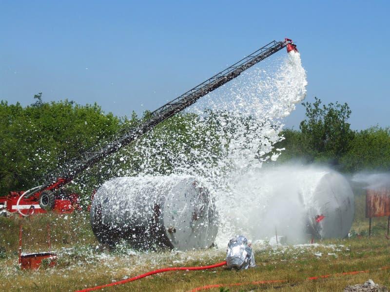 Extinguishing Fires Royalty Free Stock Image