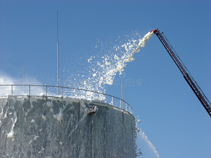 Download Extinguishing Of The Oil Store Stock Image - Image: 3090859