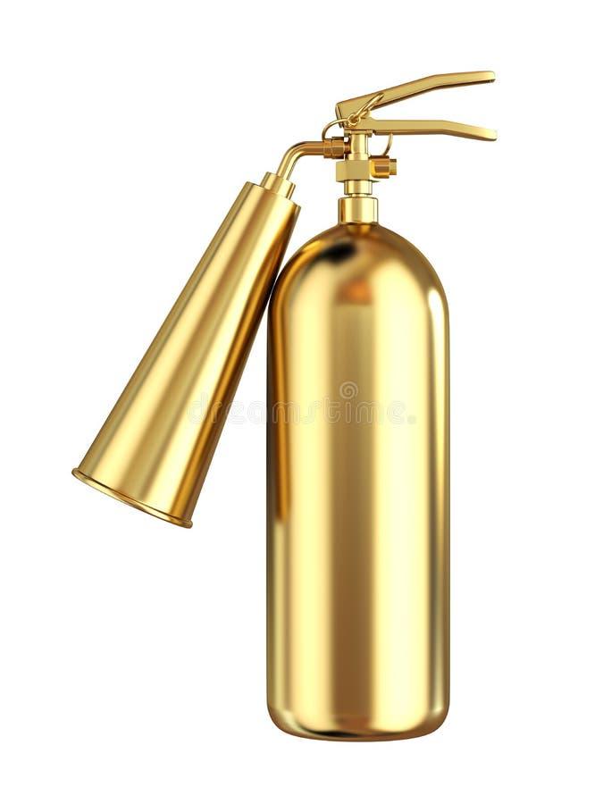 Extintor dourado ilustração stock