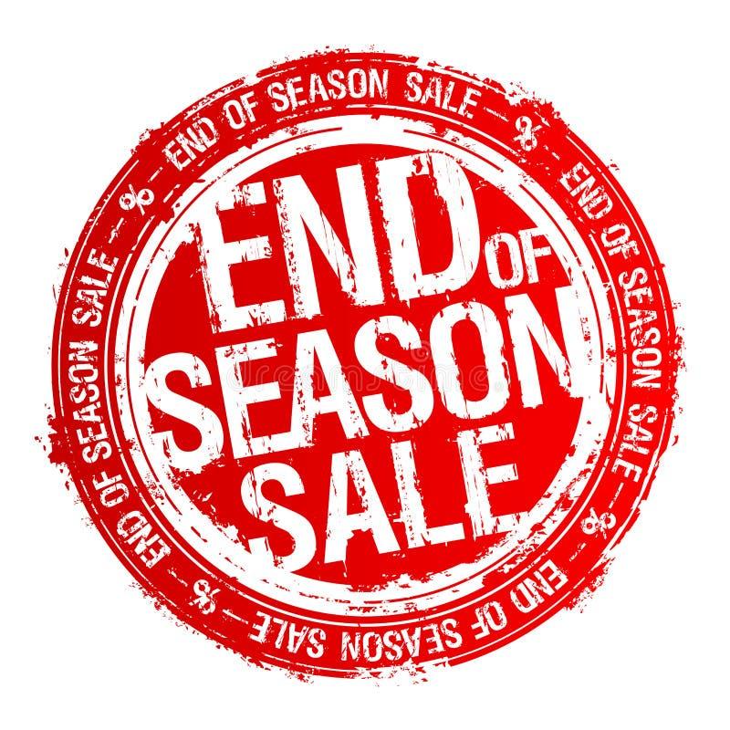 Extrémité de tampon en caoutchouc de vente de saison illustration libre de droits