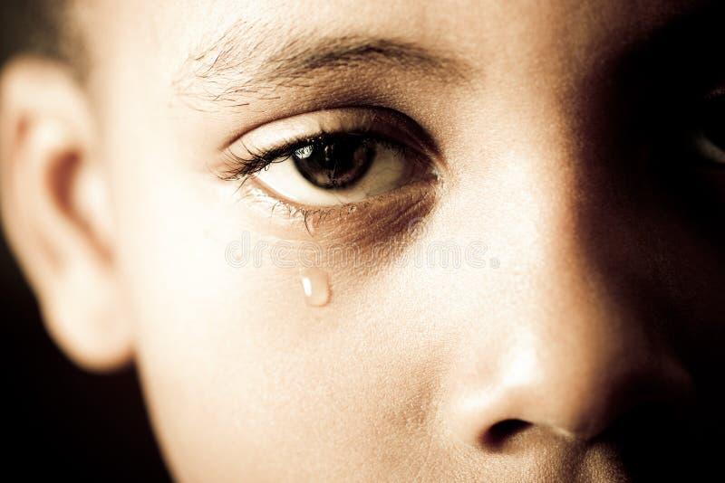 Extrémité des larmes photographie stock