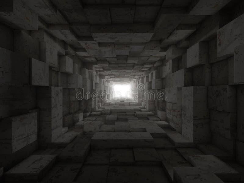 Extrémité du tunnel illustration de vecteur