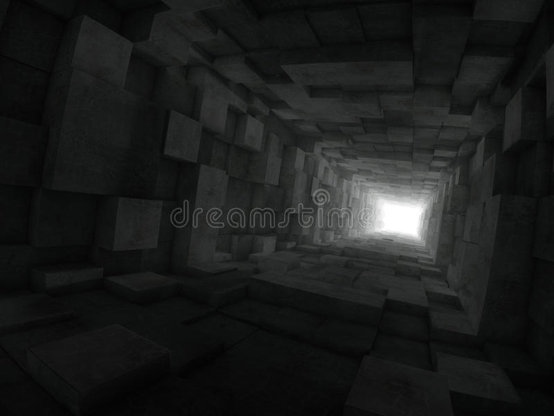 Extrémité du tunnel illustration stock