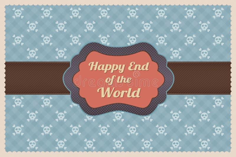 Extrémité heureuse du monde illustration libre de droits