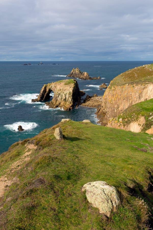 Extrémité les Cornouailles Angleterre R-U de terres photos libres de droits