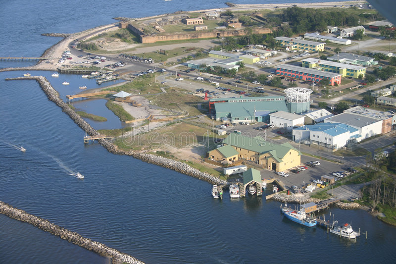 Extrême oriental d'île de Dauphin, Alabama image libre de droits