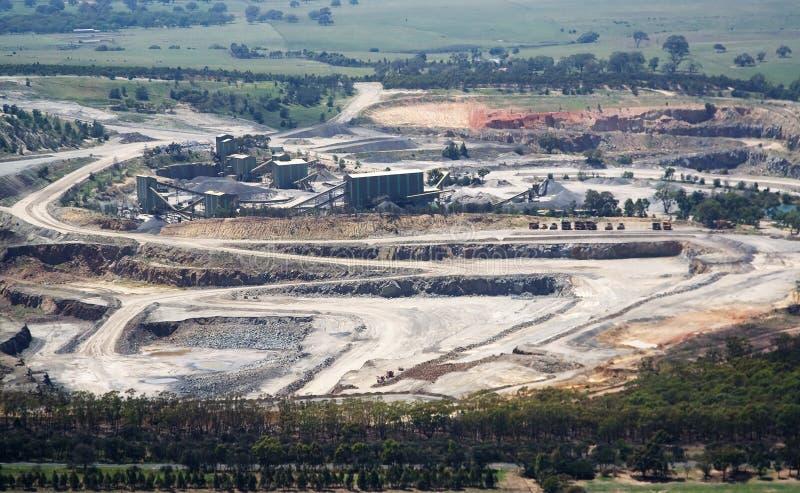 Extração aberta da mina foto de stock