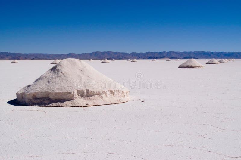 Extração de sal, Argentina imagem de stock