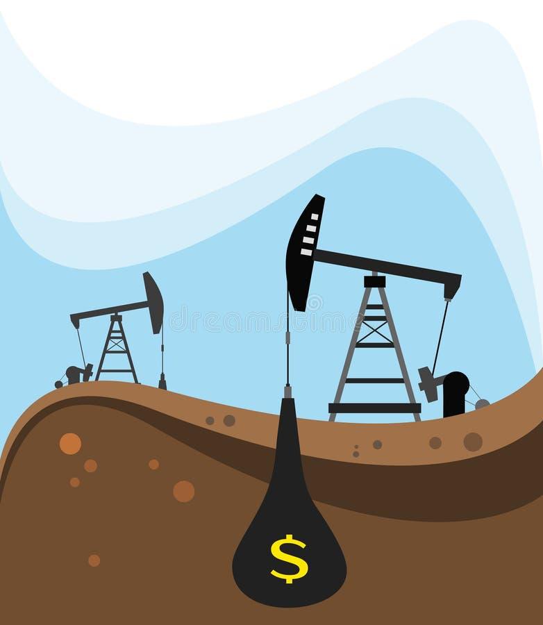 Extração do petróleo cru foto de stock royalty free
