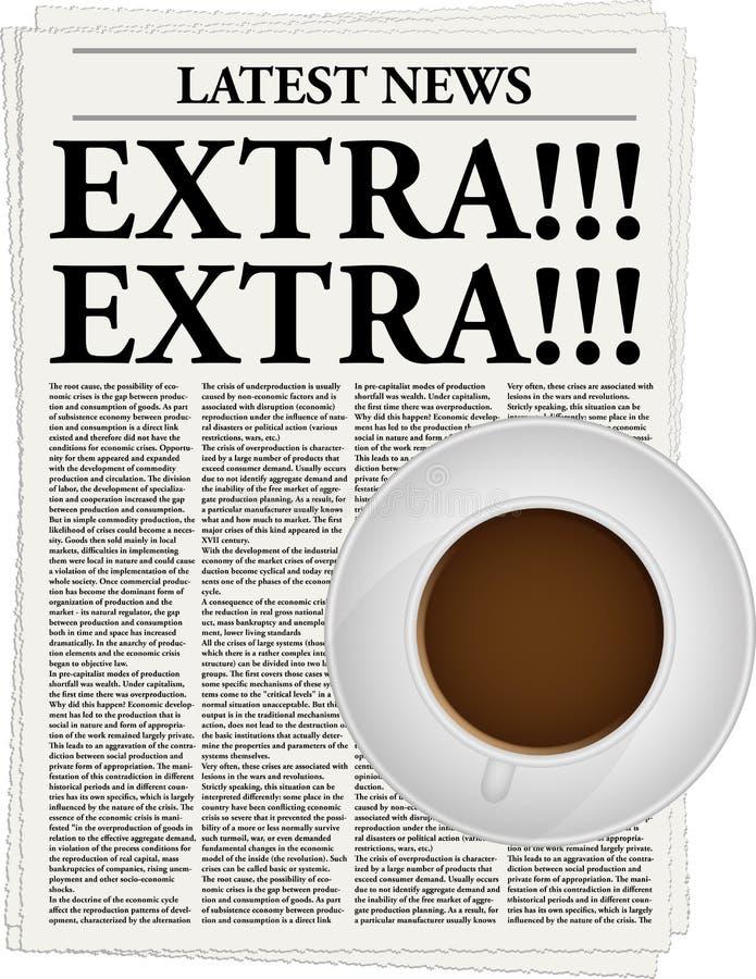 Extra!!! ilustração royalty free