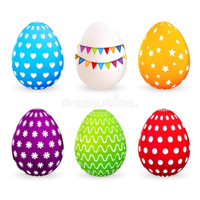 extra bakgrund är färgrika easter ägg, isolerad som set stordiavektorwhite skallr också vektor för coreldrawillustration vektor illustrationer