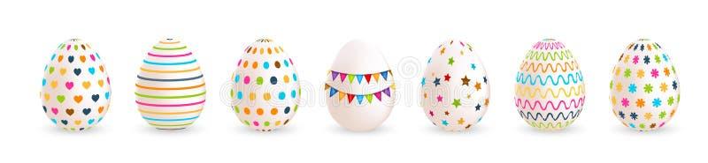 extra bakgrund är färgrika easter ägg, isolerad som set stordiavektorwhite skallr också vektor för coreldrawillustration royaltyfri illustrationer