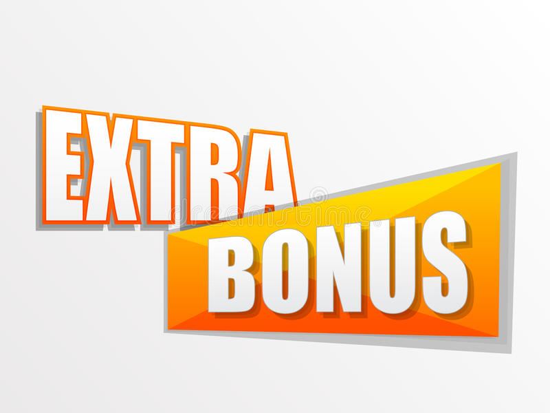 Extra bonus in flat design label vector illustration