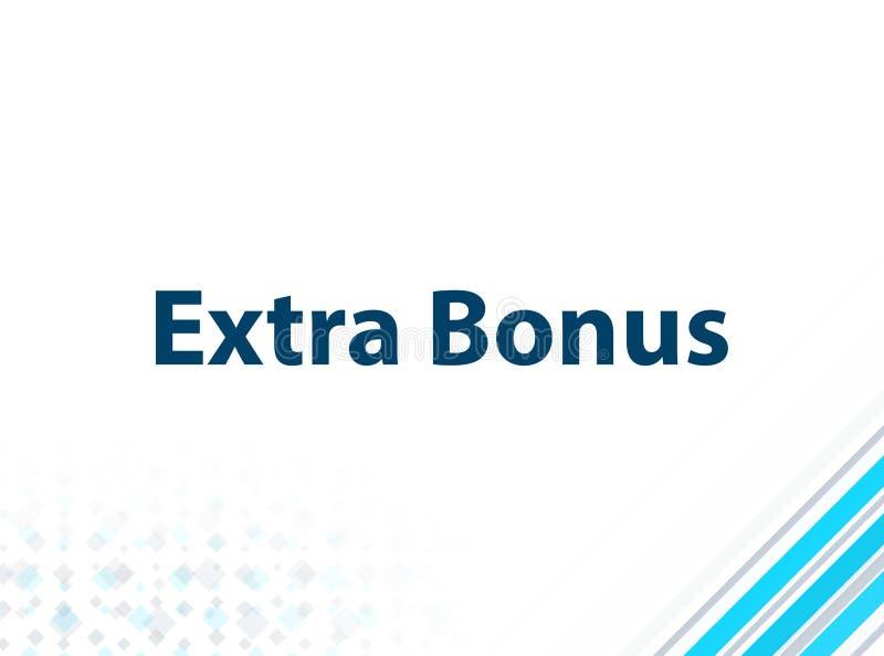 Extra Bonus Modern Flat Design Blue Abstract Background royalty free illustration