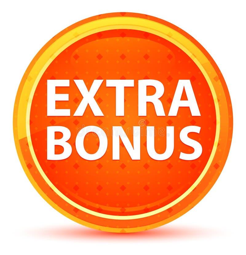 Extra Bonus Natural Orange Round Button vector illustration