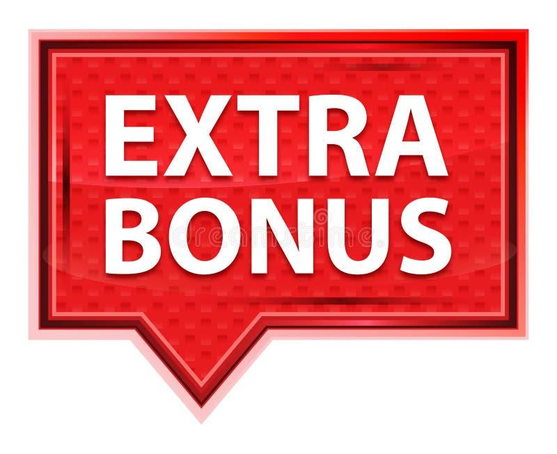 Extra Bonus misty rose pink banner button vector illustration